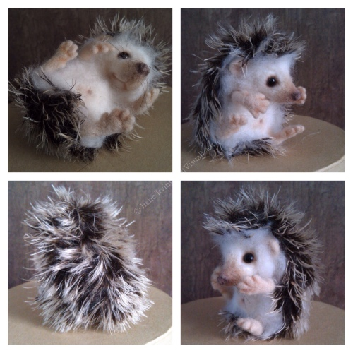 Long spike mohair needlefelted hedgehog